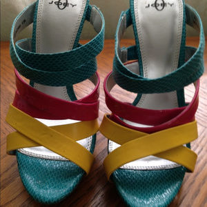 Joey Strappy Multi-Colored Heels | 8½